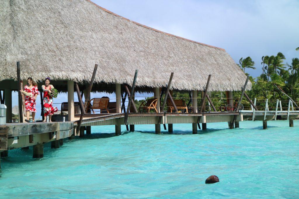 タハア島ル タハアアイランド リゾートスパの入り口