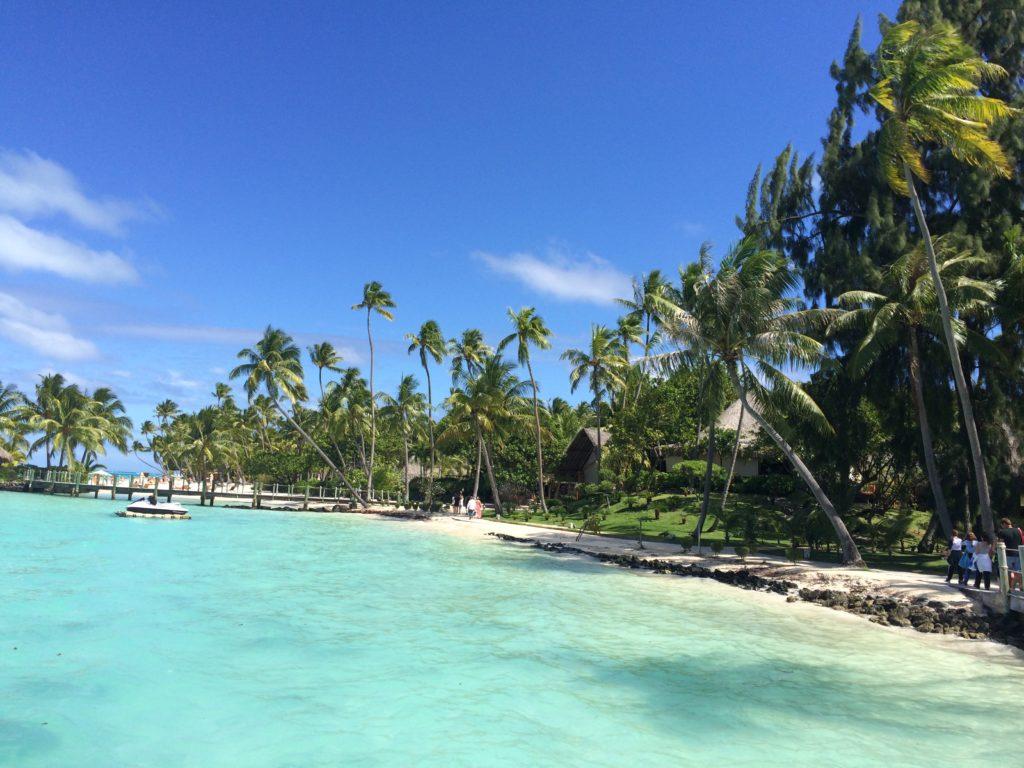 タヒチボラボラ島の光景