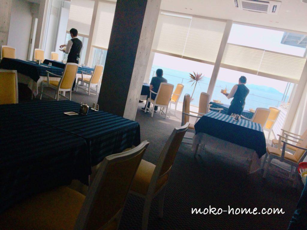 ホテルシーショアリゾートのレストランオーシャンビュー