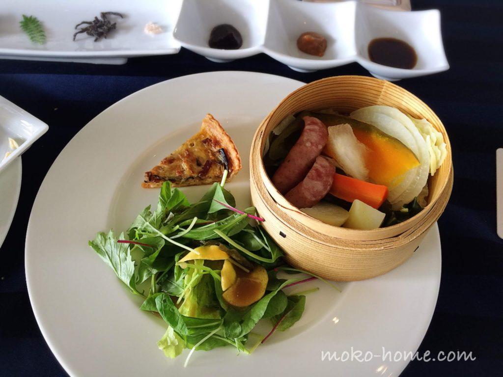 ホテルシーショアリゾートの朝食・蒸し野菜