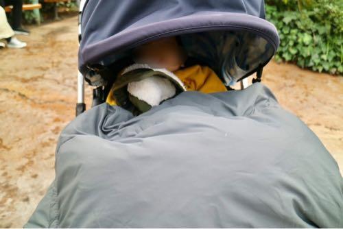 ユニバでベビーカーに乗った1歳児