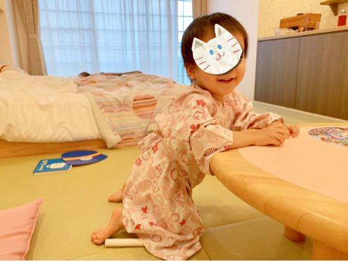 おもちゃ王国ホテルグリーンプラザ東条湖ベビーキッズルーム・浴衣をきた子ども