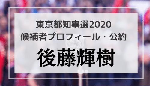後藤輝樹(37)の顔・プロフィール・公約・経歴をチェック!東京都知事選2020候補者