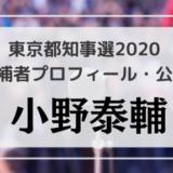 小野泰輔(46)の顔・プロフィール・公約・経歴をチェック!東京都知事選2020候補者