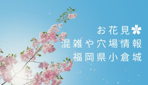 小倉城(勝山公園)お花見2021見頃はいつ?混雑状況や穴場スポットの口コミまとめ