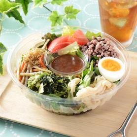 和惣菜と雑穀のボウルサラダ