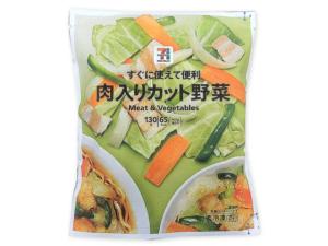 セブンイレブン 肉入りカット野菜 108円(税込)